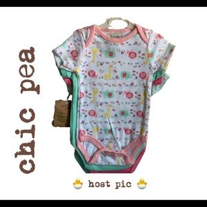 CHIC PEA Baby girl body suits NWT